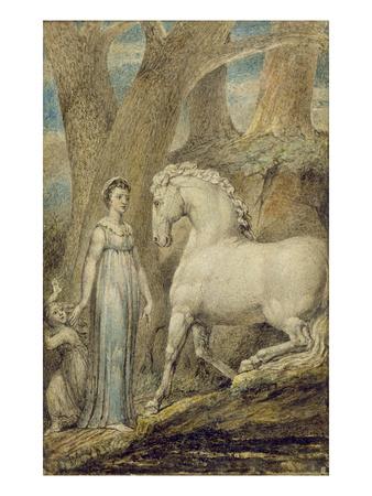 The Horse, from 'William Hayley's Ballads', C.1805-06 Premium Giclee Print by William Blake
