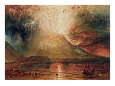 Mount Vesuvius in Eruption, 1817 (W/C on Paper) Premium Giclee Print by J. M. W. Turner