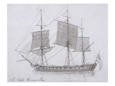 The Earl Cornwallis, C.1786-94 (Pen and Ink and Wash on Paper) Giclee Print by Thomas Daniell