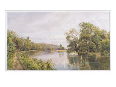 Thames, 1879 (W/C on Paper) Premium Giclee Print by William Bradley