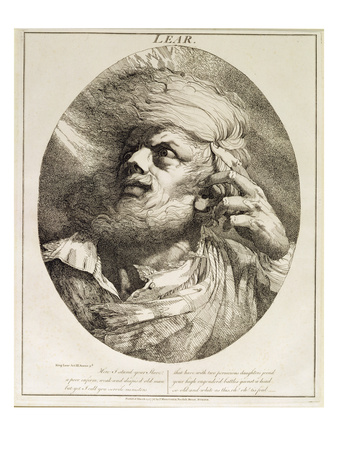 Lear, from King Lear, Act Iii, Scene 3, 1776 (Etching) Premium Giclee Print by John Hamilton Mortimer