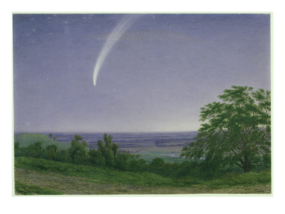 Donati's Comet, Oxford, 7.30Pm, 5th October 1858 (W/C and Bodycolour over Graphite on Paper) Premium Giclee Print by J. M. W. Turner