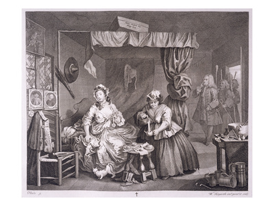 A Harlot's Progress, Plate Iii, from 'The Original and Genuine Works of William Hogarth' Premium Giclee Print by William Hogarth