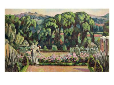The Artist's Garden at Durbins, c.1915 Premium Giclee Print by Roger Eliot Fry