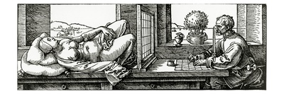 Illustration from Durer's 'Four Books on Measurement', Published in 1525, Giclee Print