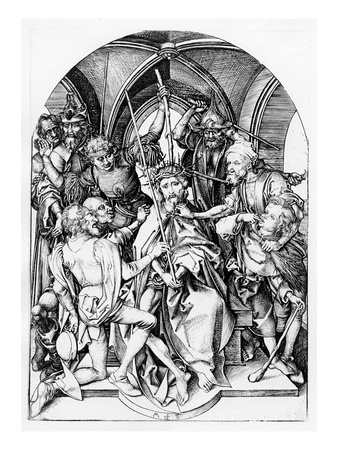 Christ Crowned by Thorns (Engraving) Premium Giclee Print by Martin Schongauer