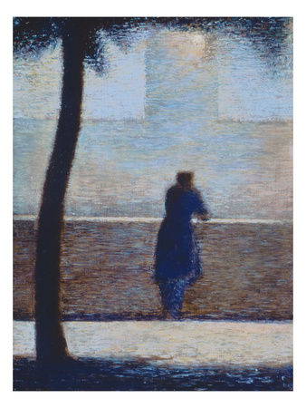 Man Leaning on a Parapet Premium Giclee Print by Georges Seurat
