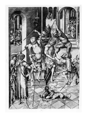 Christ Crowned with Thorns, C.1480 (Engraving) Premium Giclee Print by Israhel van, the younger Meckenem