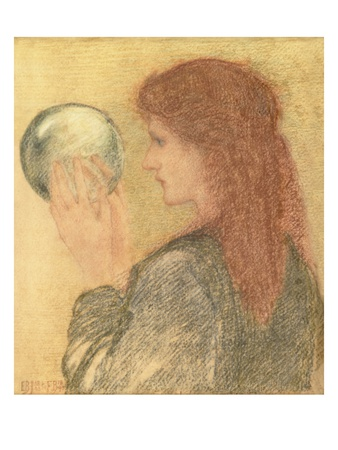 Astrologia, 1893 (Pastel on Paper) Premium Giclee Print by Edward Burne-Jones