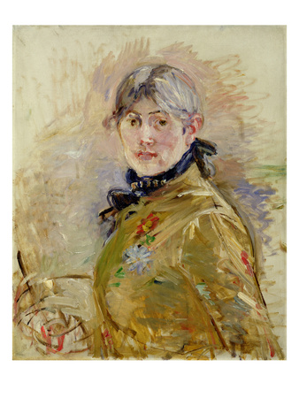 Self Portrait, 1885 Premium Giclee Print by Berthe Morisot