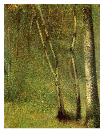 In the Forest at Pontaubert Premium Giclee Print by Georges Seurat