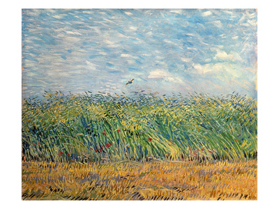 Wheatfield with Lark, 1887 Wydruk giclee