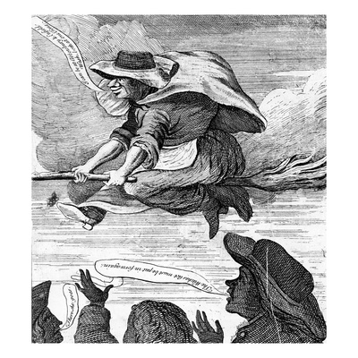 E. Canning Vindicated, or Gypsies Flight to Enfield Wash', 1753 (Etching) Giclee Print by  English