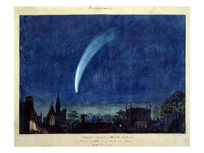 Donati's Comet, 1858 (W/C on Paper) Premium Giclee Print by J. M. W. Turner