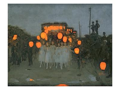The Lantern Parade c.1918 Premium Giclee Print by Thomas Cooper Gotch