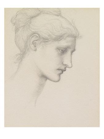 Study for Laus Veneria, C.1875 (Pencil on Paper) Premium Giclee Print by Edward Burne-Jones