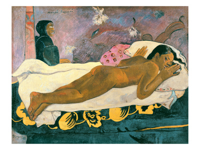 Manao Tupapau (The Spirit of the Dead Watches), 1892 Premium Giclee Print by Paul Gauguin