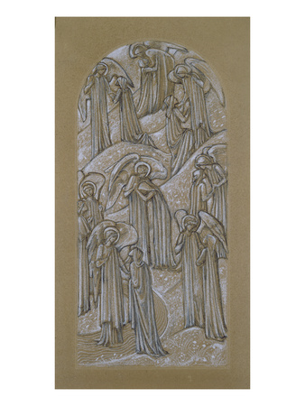 Study for a Stained Glass Window (Chalk on Paper) Premium Giclee Print by Edward Burne-Jones