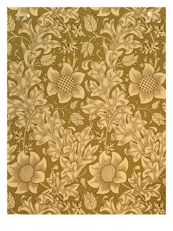 'Fritillary' Wallpaper Design, 1885 Premium Giclee Print by William Morris