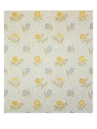 Powdered Wallpaper Design, 1874 Premium Giclee Print by William Morris