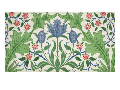 Floral Wallpaper Design Premium Giclee Print by William Morris