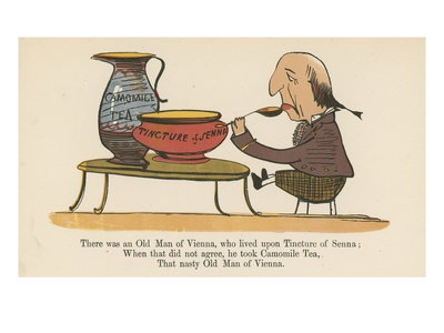 There Was an Old Man of Vienna, Who Lived Upon Tincture of Senna Premium Giclee Print by Edward Lear