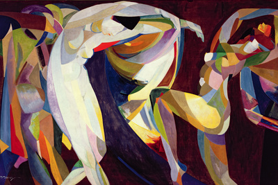 Dances, 1914/15 Premium Giclee Print by Arthur Bowen Davies
