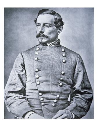 Portrait of Brigadier General P.G.T. Beauregard (1818-93) (Litho) Premium Giclee Print by  American Photographer