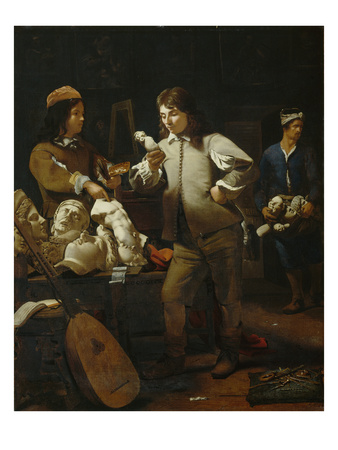 In the Studio, 1652 Premium Giclee Print by Michael Sweerts