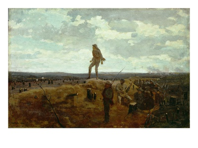 Defiance: Inviting a Shot before Petersburg, 1864 (Oil on Panel) Premium Giclee Print by Winslow Homer