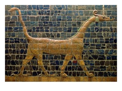Dragon of Marduk, on the Ishtar Gate, Neo-Babylonian, 604-562 BC Premium Giclee Print