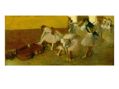 Dancers in the Green Room, c.1879 Premium Giclee Print by Edgar Degas