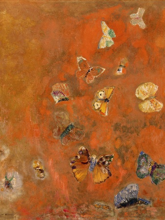 Evocation of Butterflies, c.1912 Premium Giclee Print by Odilon Redon