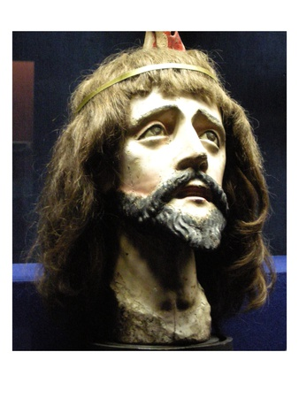 Head of Christ (Wood and Human Hair) Premium Giclee Print by  Brazilian