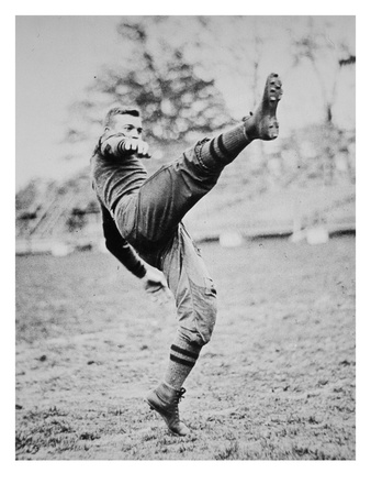 Dwight D. Eisenhower as a Cadet Footballer at West Point Academy, New York, 1912 (B/W Photo) Premium Giclee Print by  American Photographer