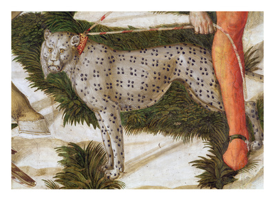 Leopard Straining on a Leash, Detail from the Journey of the Magi Cycle in the Chapel, C.1460 Premium Giclee Print by Benozzo di Lese di Sandro Gozzoli