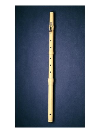 One-Keyed Flute, Made by Naust, Paris, C.1725 (Ivory) Premium Giclee Print by  French