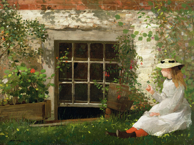 The Four Leaf Clover, 1873 Premium Giclee Print by Winslow Homer