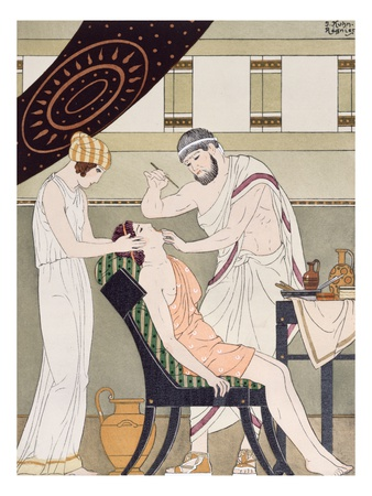 The Dentist, Illustration from 'The Complete Works of Hippocrates', 1932 (Colour Litho) Giclee Print by Joseph Kuhn-Regnier