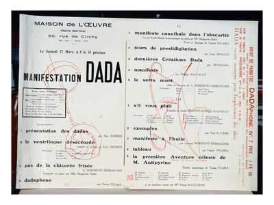 Dada Manifestation, C.1921 (Litho) Premium Giclee Print by  French