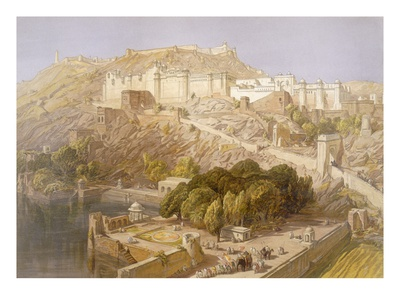 Ambair, from 'India Ancient and Modern', 1867 (Colour Litho) Premium Giclée-tryk af William 'Crimea' Simpson