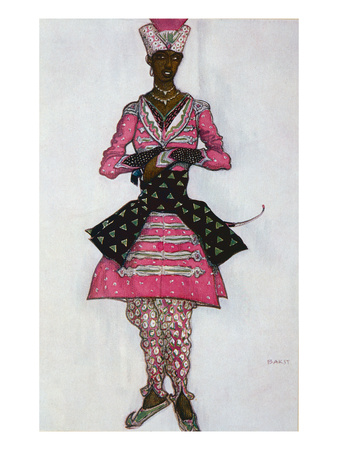 Costume Design for the Indian Bridegroom, from Sleeping Beauty, 1921 (Colour Litho) Premium Giclee Print by Leon Bakst