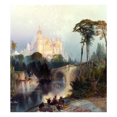 Feeric Landscape Giclee Print by Thomas Moran