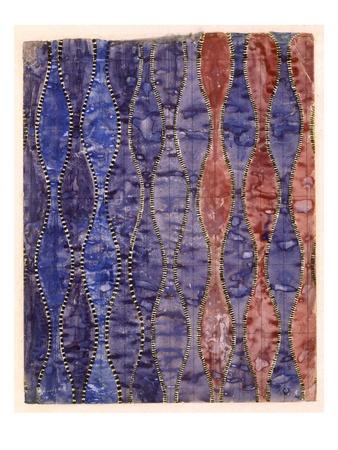 Textile Design (W/C on Paper) Premium Giclee Print by Charles Rennie Mackintosh