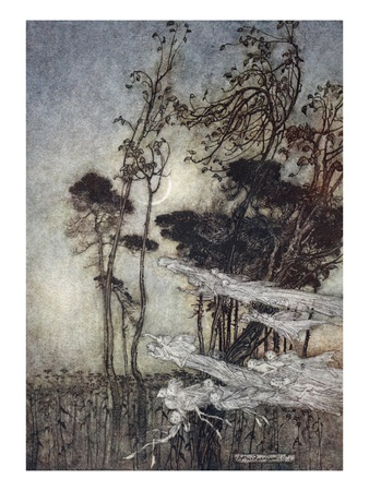..The Moon, Like to a Silver Bow New-Bent in Heaven Premium Giclee Print by Arthur Rackham