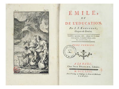 Frontispiece for 'Emile' by Jean-Jacques Rousseau, 1762 (Engraving) Premium Giclee Print by  Netherlandish