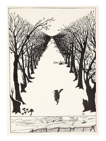 The Cat That Walked by Himself, Illustration from 'Just So Stories for Little Children' Premium Giclee Print by Rudyard Kipling