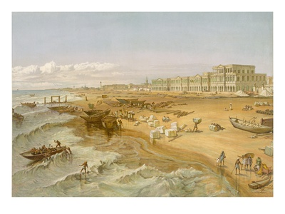 Madras, from 'India Ancient and Modern', 1867 (Colour Litho) Premium Giclée-tryk af William 'Crimea' Simpson