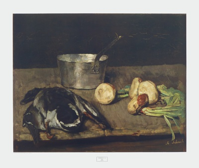 Still Life with Wild Duck Collectable Print by Carl Schuch