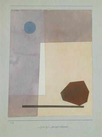 Gewagt Wägend Collectable Print by Paul Klee